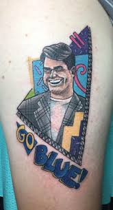 fan gets tattoo of jim harbaugh from u0027saved by the bell u0027 ny