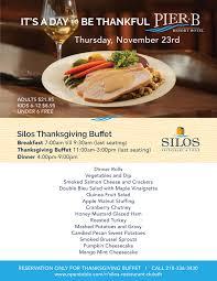 thanksgiving buffet at silos pier b resort