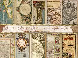 Paper Maps Vintage Maps Digital Paper