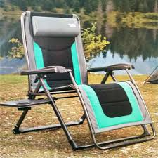 Zero Gravity Chair With Side Table Green Timber Ridge Zero Gravity Lounger Chair