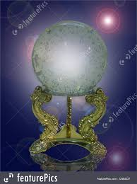 Gazing Ball And Stand Crystal Gazing Ball Magical Stock Illustration I2464337 At Featurepics
