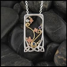mothers pendant gold and silver celtic mothers pendant walker metalsmiths celtic