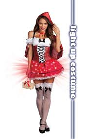 dreamgirl light up little red riding hood costume