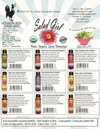 sell sheets u2013 the salad fresh organic salad dressing company