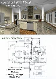 midsize country cottage house plan with open floor plan layout