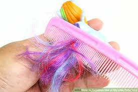 pony hair how to condition hair of my pony toys 8 steps