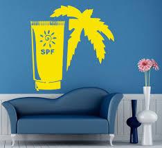 online get cheap summer wall mural aliexpress com alibaba group beauty shop vinyl wall decal spf sun creme tan summer palm spa salon mural wall sticker