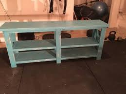 Blue Console Table Rustic Distressed Blue Console Table Haws Rustics