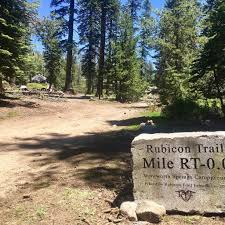 rubicon trail new trail marker at wentworth springs pirate4x4 com 4x4 and