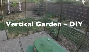 vertical gardening diy cucumber trellis youtube