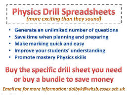 physics drill spreadsheets teaching resources tes