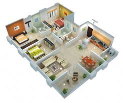 house design with floor plan 3d house design plan in 3d 25 more 3 bedroom 3d floor plans 3d bedrooms
