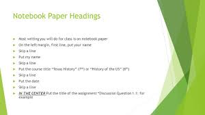 name writing paper writing for the college student ppt download notebook paper headings