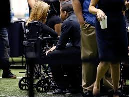 wife of slain ex saints star will smith appears in public for the