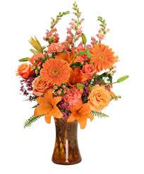 orange unique fl arrangement