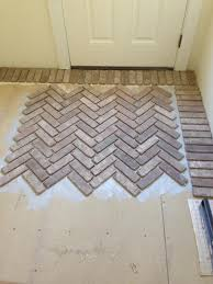 our home brick paved mudroom floor threads design co