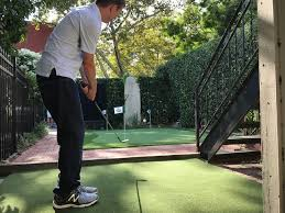 Building A Backyard Putting Green A Back Yard Putting Green In Brooklyn My Usual Game David Owen