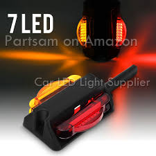 Teardrop Cab Lights by Partsam 2pairs Led Trailer Fender Light Dual Face Amber Front Red
