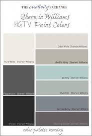 hgtv paint colors from sherwin williams color palette monday by
