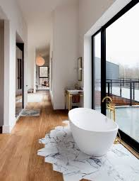 Wood Floors In Bathroom by When And Where Can Marble Floors Become An Elegant Design Feature