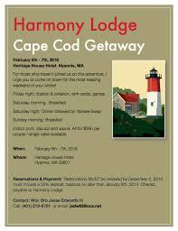 harmony u0027s cape cod getaway u2013 february 5th 7th at the heritage