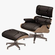 Low Leather Chair Lounge Chair And Ottoman Charles Eames 3d Model Cgtrader