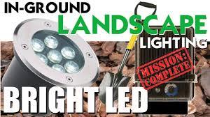 In Ground Landscape Lighting Bright Led Landscape Lighting In Ground Low Voltage Lights