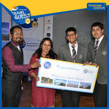 Akshat and devansh crowned by thomas cook travel quest 2016