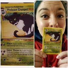 Pokemon Card Meme - put me like my birthday gift was a custom pokemon card of my cat