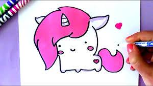 how to draw a cartoon unicorn easy step by step youtube