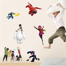 Online Get Cheap Wall Decals Big Hero  Aliexpresscom Alibaba - Cheap wall stickers for kids rooms