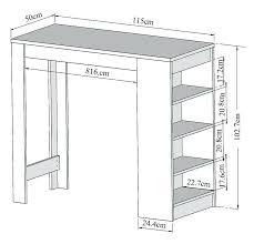 largeur cuisine plateau bar cuisine hauteur table bar cuisine 8080 cotations largeur