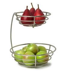 metal fruit basket buy qesyas silver 2 tier metal fruit basket online snack fruit