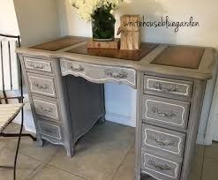 this french style desk with leather top curves was painted this french style desk with leather top curves was painted prairie chalk paint