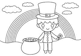 saint patrick day coloring pages also a happy st day with rainbow