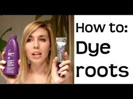 hairstyle to hide grey roots how to touch up your roots color your hair at home youtube
