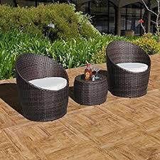 amazon com patioroma 3pc patio outdoor rattan furniture set