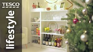home bar shelves how to make a home bar using book shelves tesco living youtube