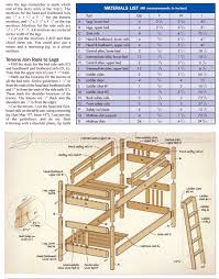 Twin Full Bunk Bed Plans Free by Mission Style Bunk Bed Plans U2022 Woodarchivist
