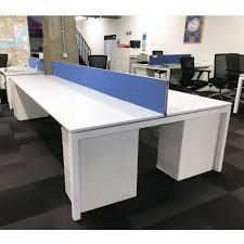 Office Desk Games by White Bench Desk With Goal Post Frame And Blue Screens White