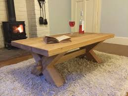 cross leg coffee table fabulous rustic oak coffee tables corfe solid oak coffee table with