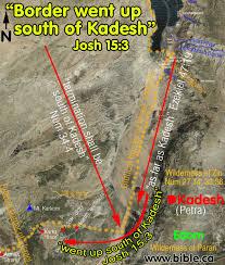 Dead Sea Map The Southern Border Of Judah And Kadesh Barnea At Petra