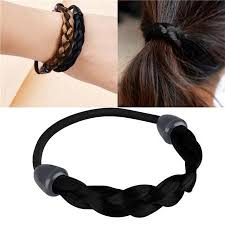 elastic hair bands buy insten black braid style womens wig elastic hair band