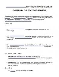 free georgia partnership agreement template u2013 lp llp lllp
