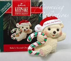 1992 hallmark baby s second keepsake ornament 2nd teddy