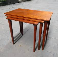 what are nesting tables mid century danish teak nesting tables set of 3 for sale at pamono