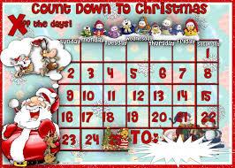 christmas countdown calendar countdown to christmas calendar with illustrations blank