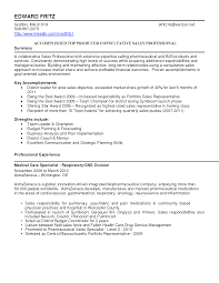 Sample Pharmaceutical Resume Outside Sales Resume Examples Resume For Your Job Application