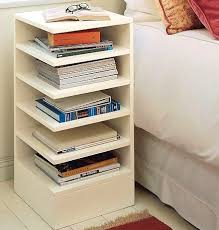 Nightstand With Shelves Bedside Bookcase Flair Recently Developed On Bedroom Designs And