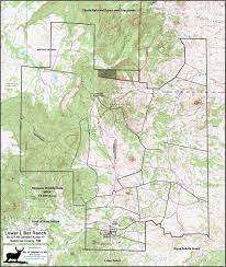 New Mexico Topographic Map by Lower L Bar Ranch